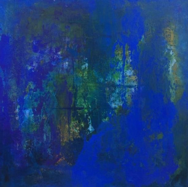 Tavla från Ewa Kinnunen - Ewaki Art - Liten blå