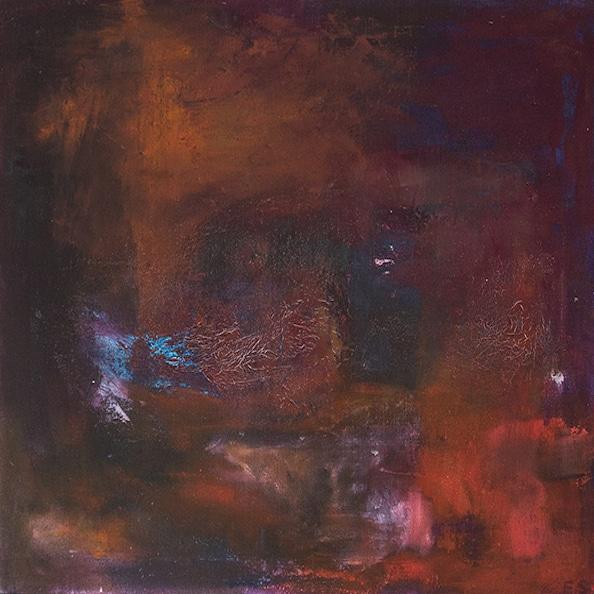 Tavla från Ewa Kinnunen - Ewaki Art - Mellan röd