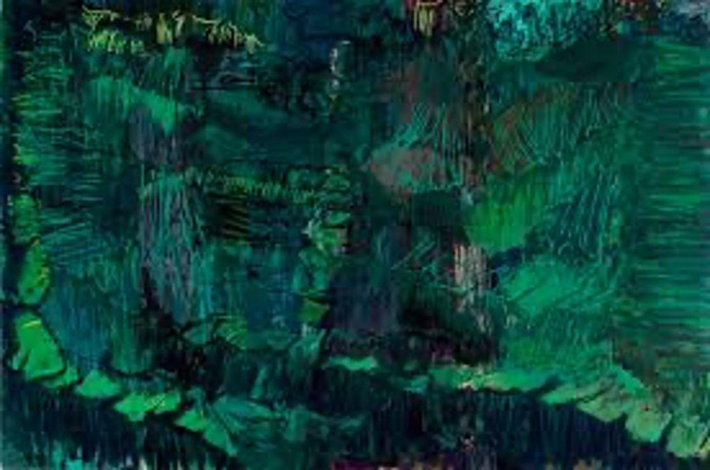 Tavla i grön färg