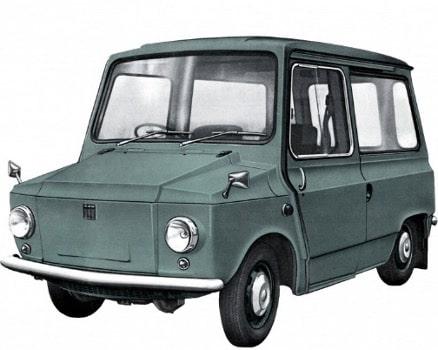 Äldre grön bil med vit bakgrund
